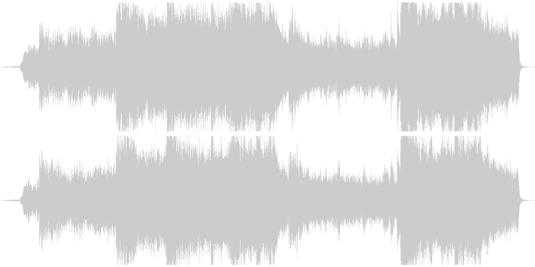 Opening BGM with a mysterious and magnificent atmosphere's unreproduced waveform