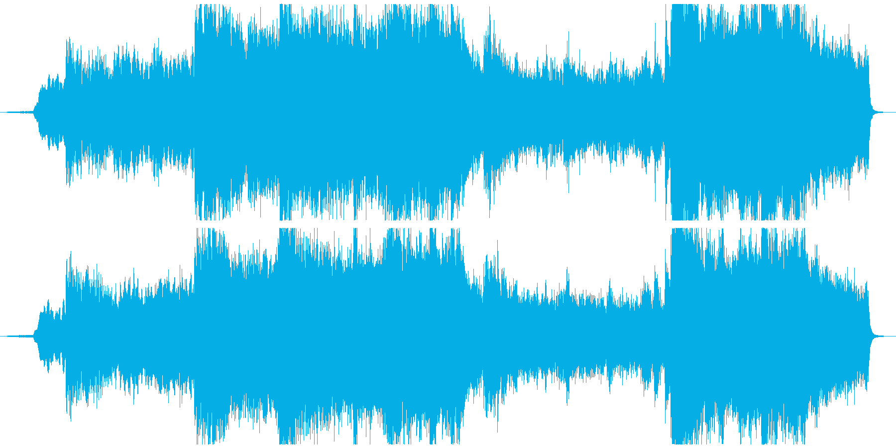 Opening BGM with a mysterious and magnificent atmosphere's reproduced waveform