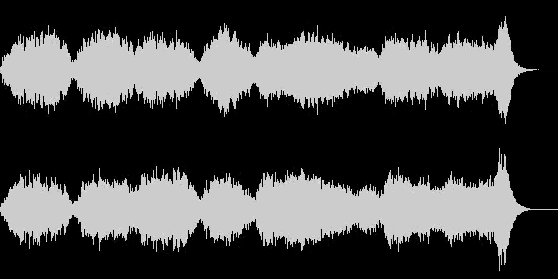サスペンスホラーの不安感オーケストラの未再生の波形