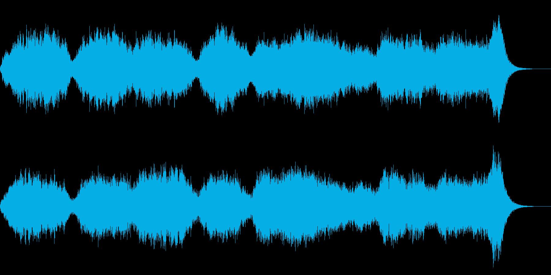 サスペンスホラーの不安感オーケストラの再生済みの波形