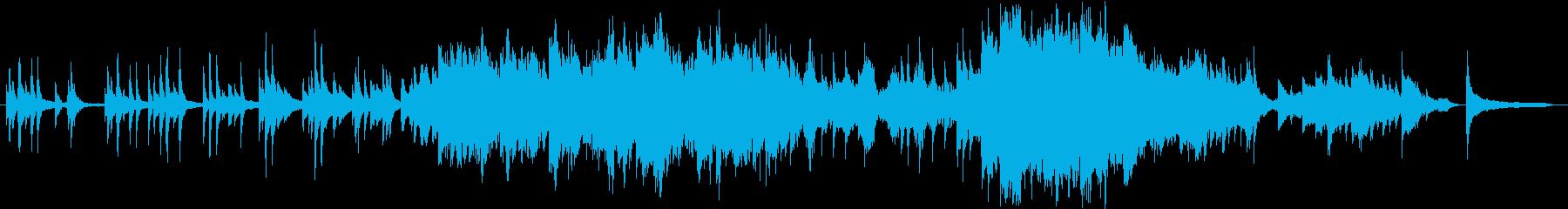 ピアノとソロバイオリンの感動的な曲の再生済みの波形
