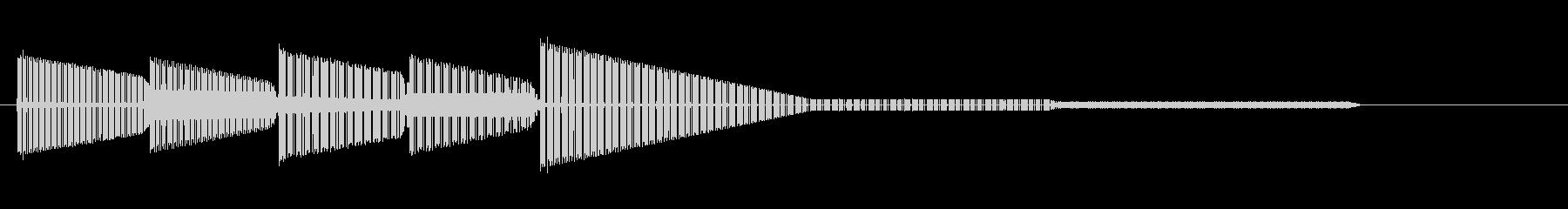 レトロゲーム風・ショックなジングル2の未再生の波形