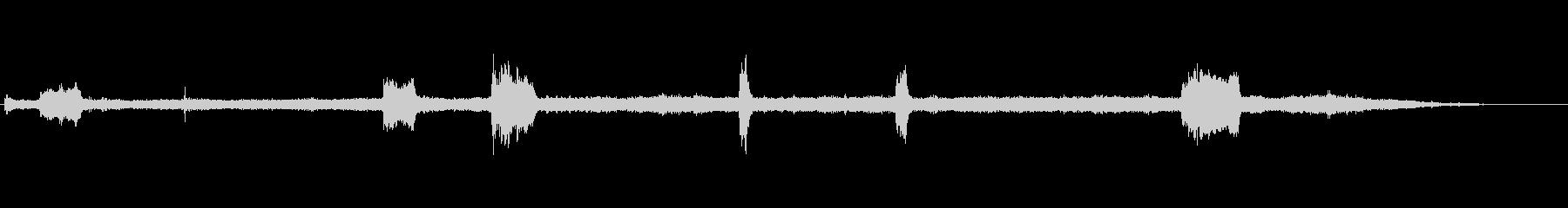 ソーイングメタル-スクリーミング-楽器の未再生の波形