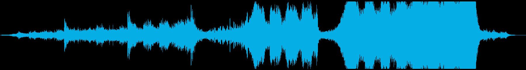 ミドルテンポの映画風トレーラー音楽の再生済みの波形