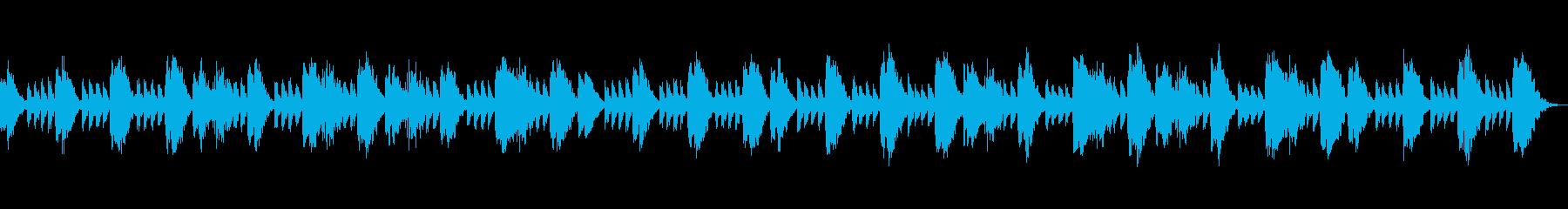 安らかな夜を演出する優しい音楽の再生済みの波形