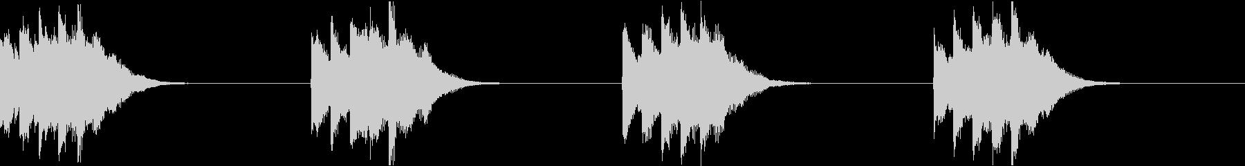 シンプル ベル 着信音 チャイム A19の未再生の波形