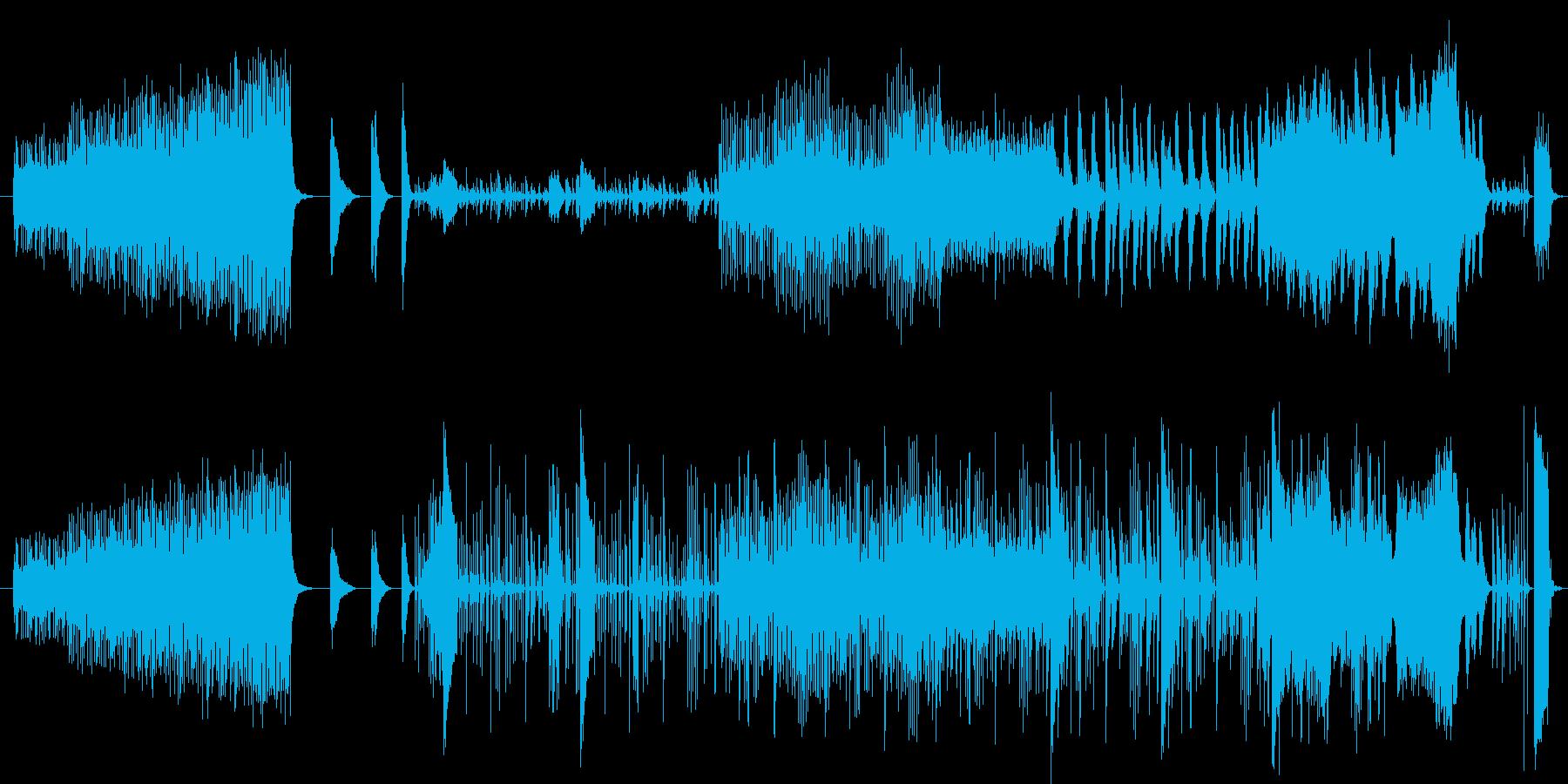 未来テクノロジーな曲調の音楽の再生済みの波形