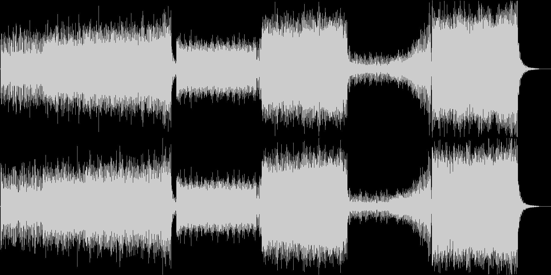 ピアノ、リードギターメインのEDM系の未再生の波形