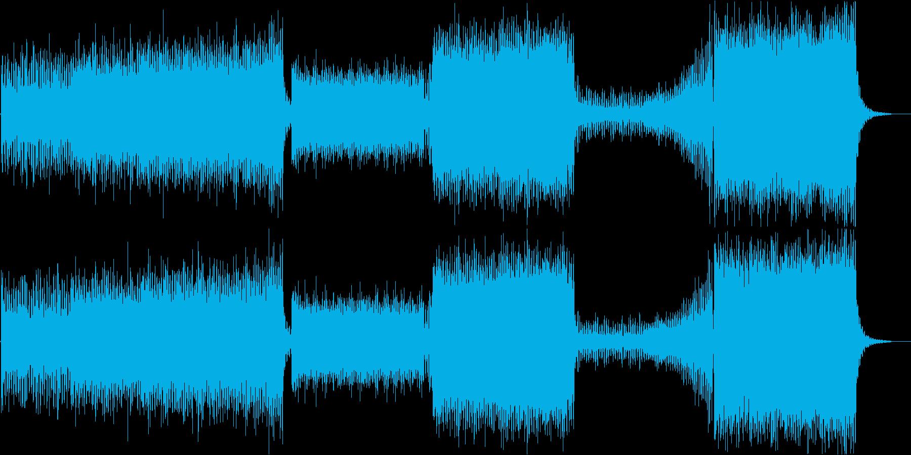 ピアノ、リードギターメインのEDM系の再生済みの波形