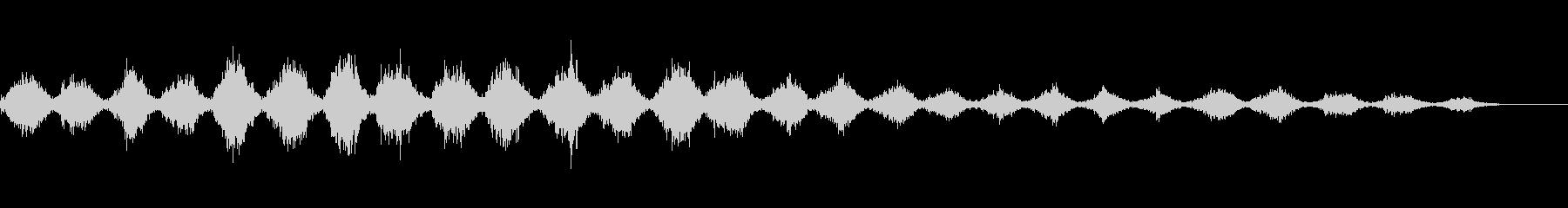 「シャカ、シャキ(刃物を研ぐ音)」の未再生の波形