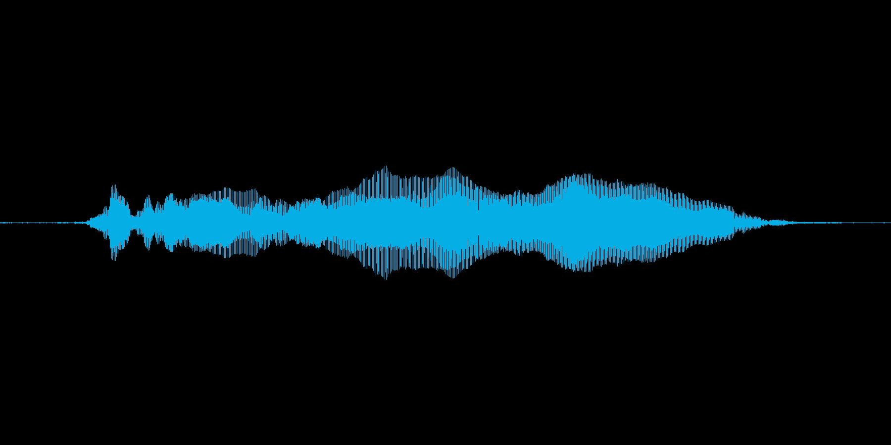猫の鳴き声1の再生済みの波形