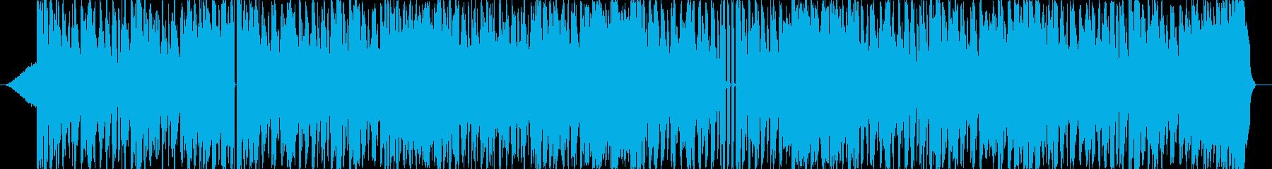 勢いのあるトラックの再生済みの波形