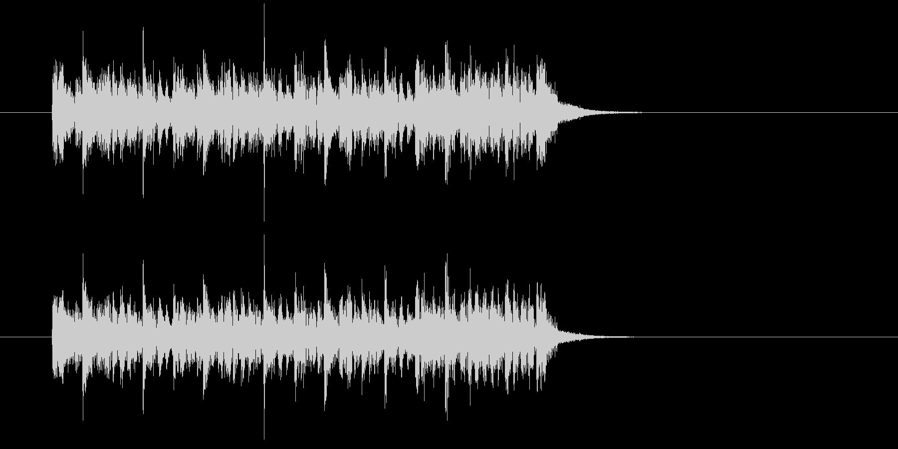 ジングル(ハード・テクノ風)の未再生の波形