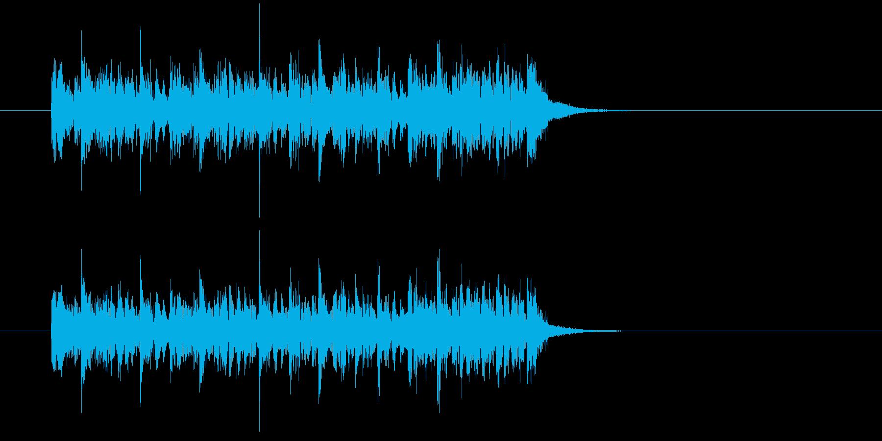 ジングル(ハード・テクノ風)の再生済みの波形