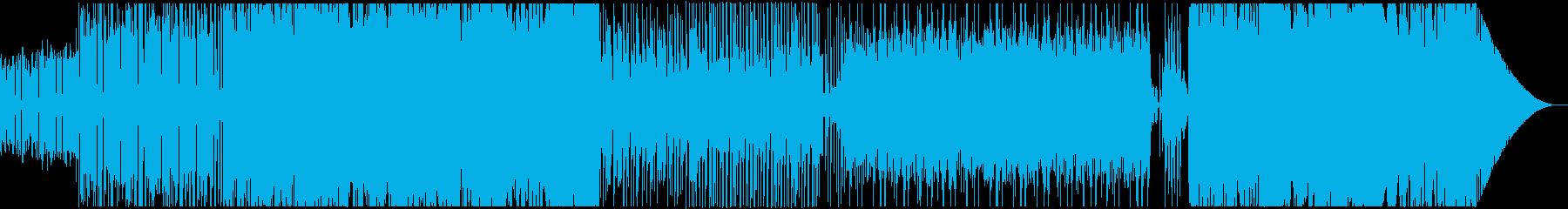 レトロな雰囲気の変拍子戦闘曲の再生済みの波形
