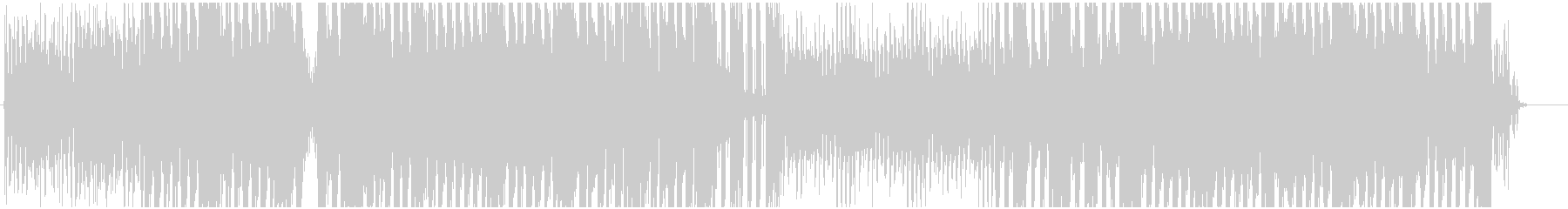 バスドラムの効いたややコミカルなテクノの未再生の波形