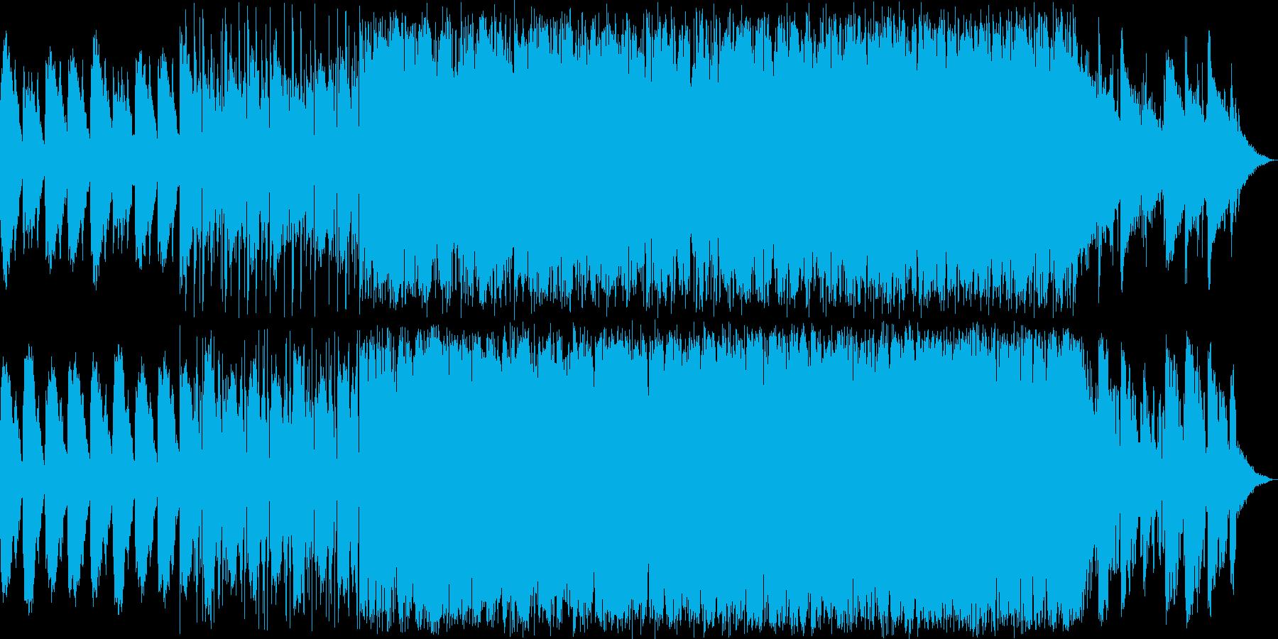 サウンドノベルをイメージする暗い曲の再生済みの波形