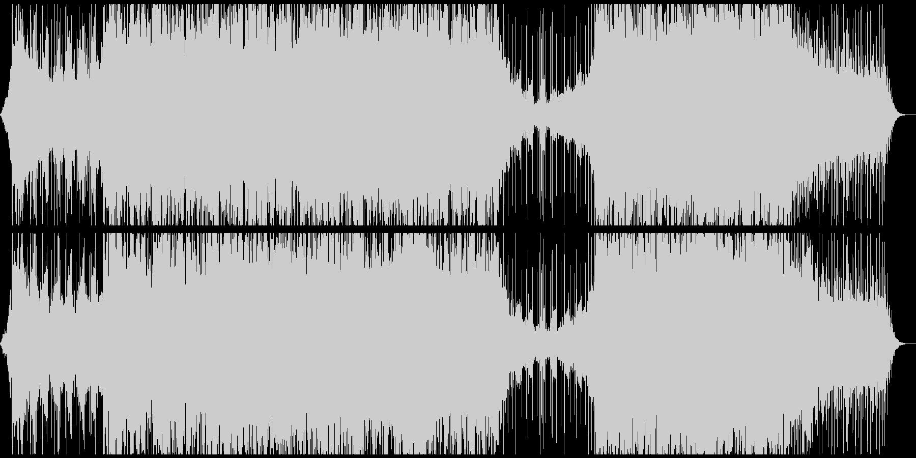 怪しげシリアスでクールな映像向けBGMの未再生の波形