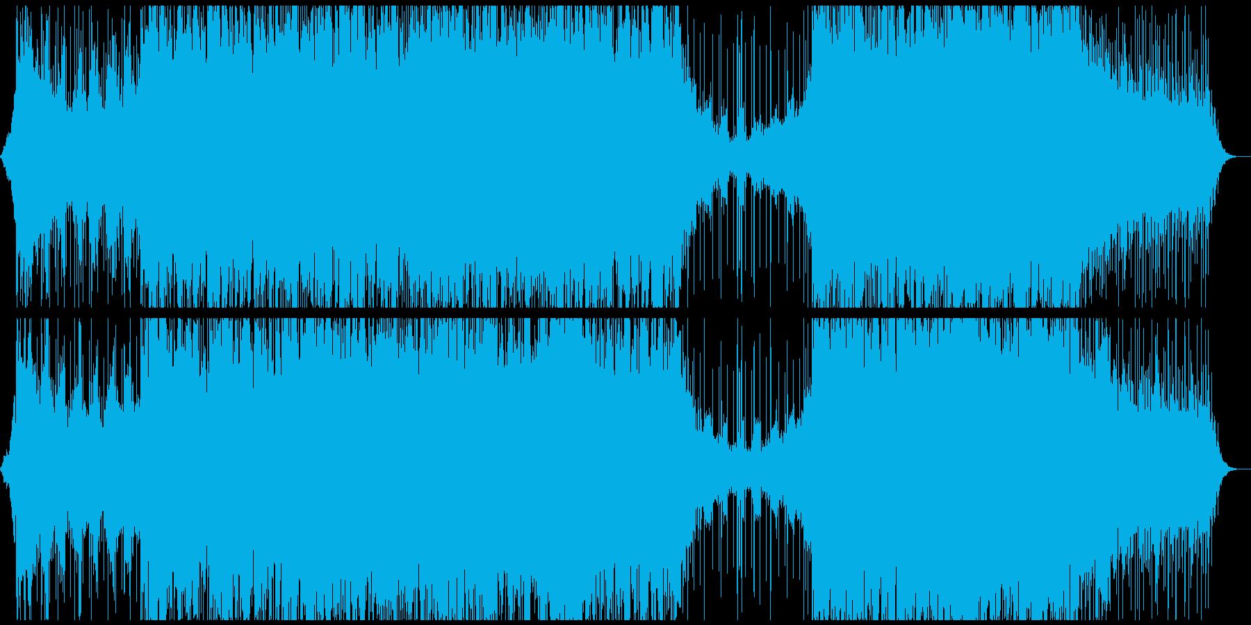 怪しげシリアスでクールな映像向けBGMの再生済みの波形