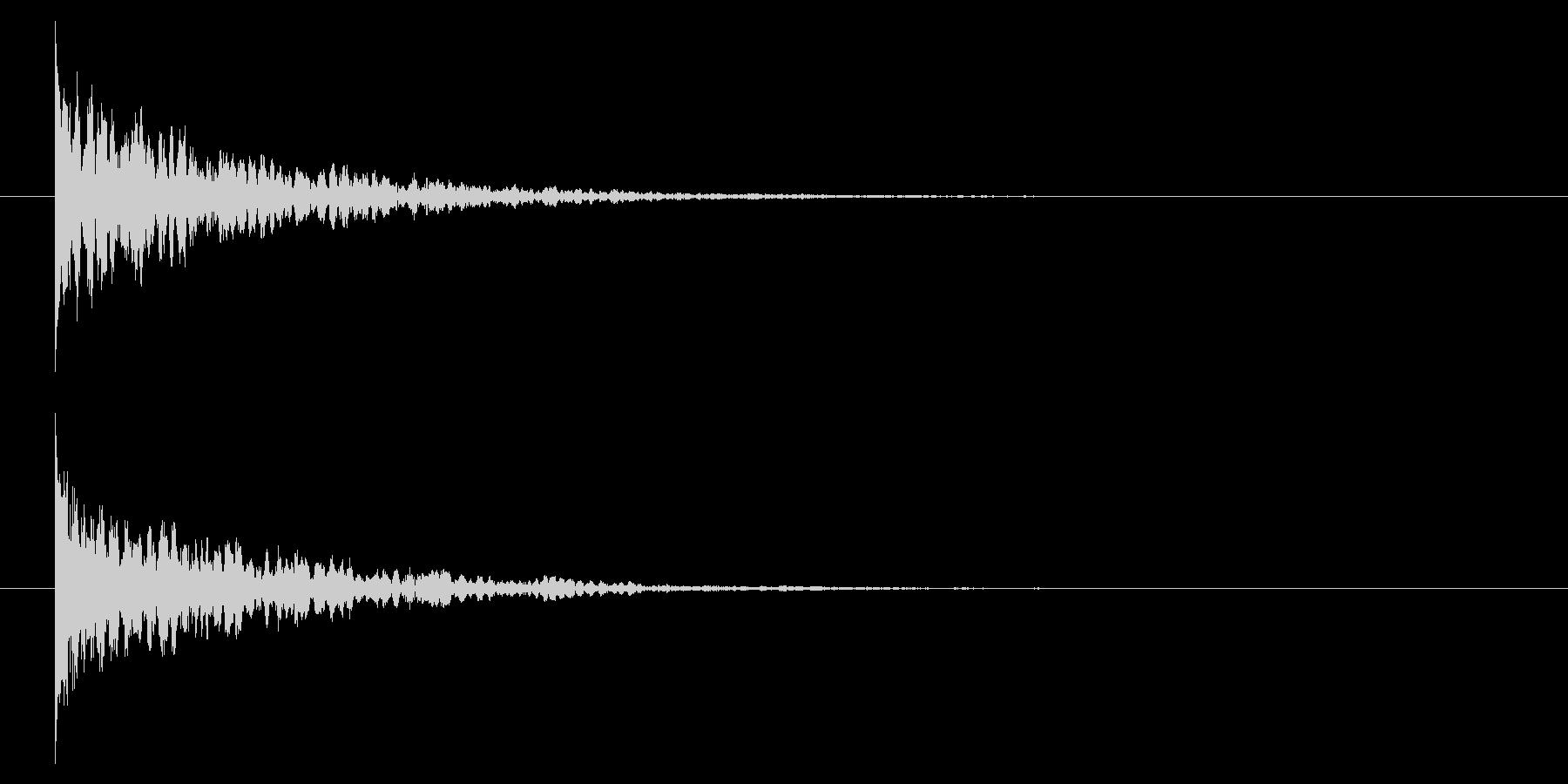 【アクセント44-1】の未再生の波形