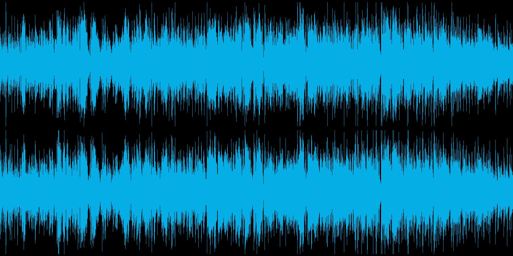カフェテリアのおしゃれボサノバ※ループ版の再生済みの波形