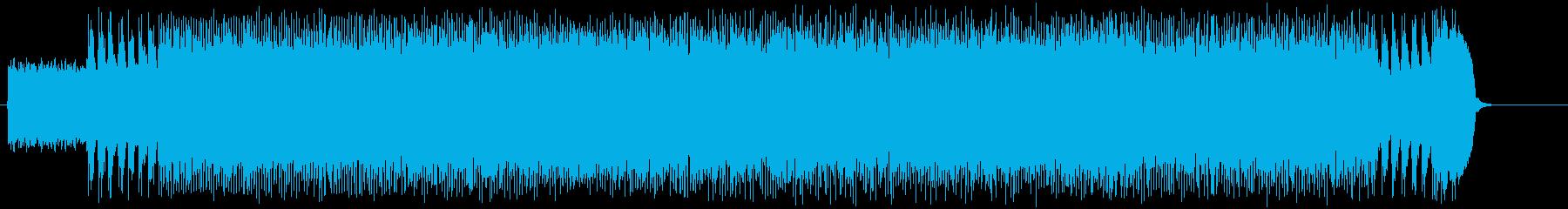 ハードな疾走するマイナーへヴィーメタルの再生済みの波形