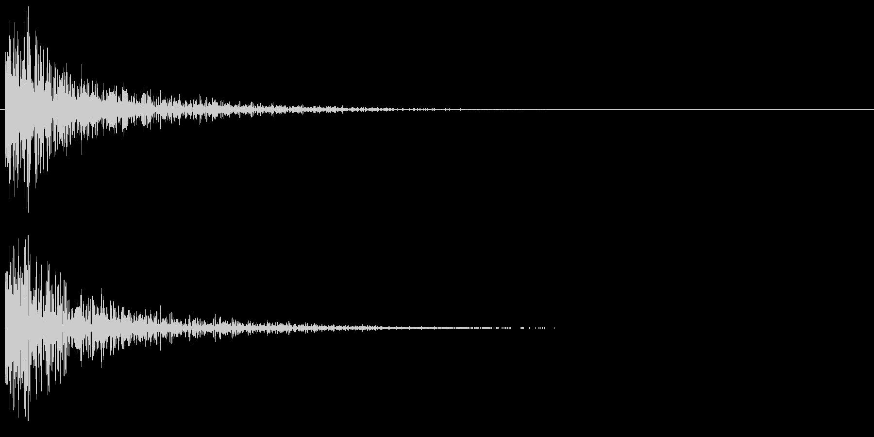 インパクト音 (ドーン)_002の未再生の波形