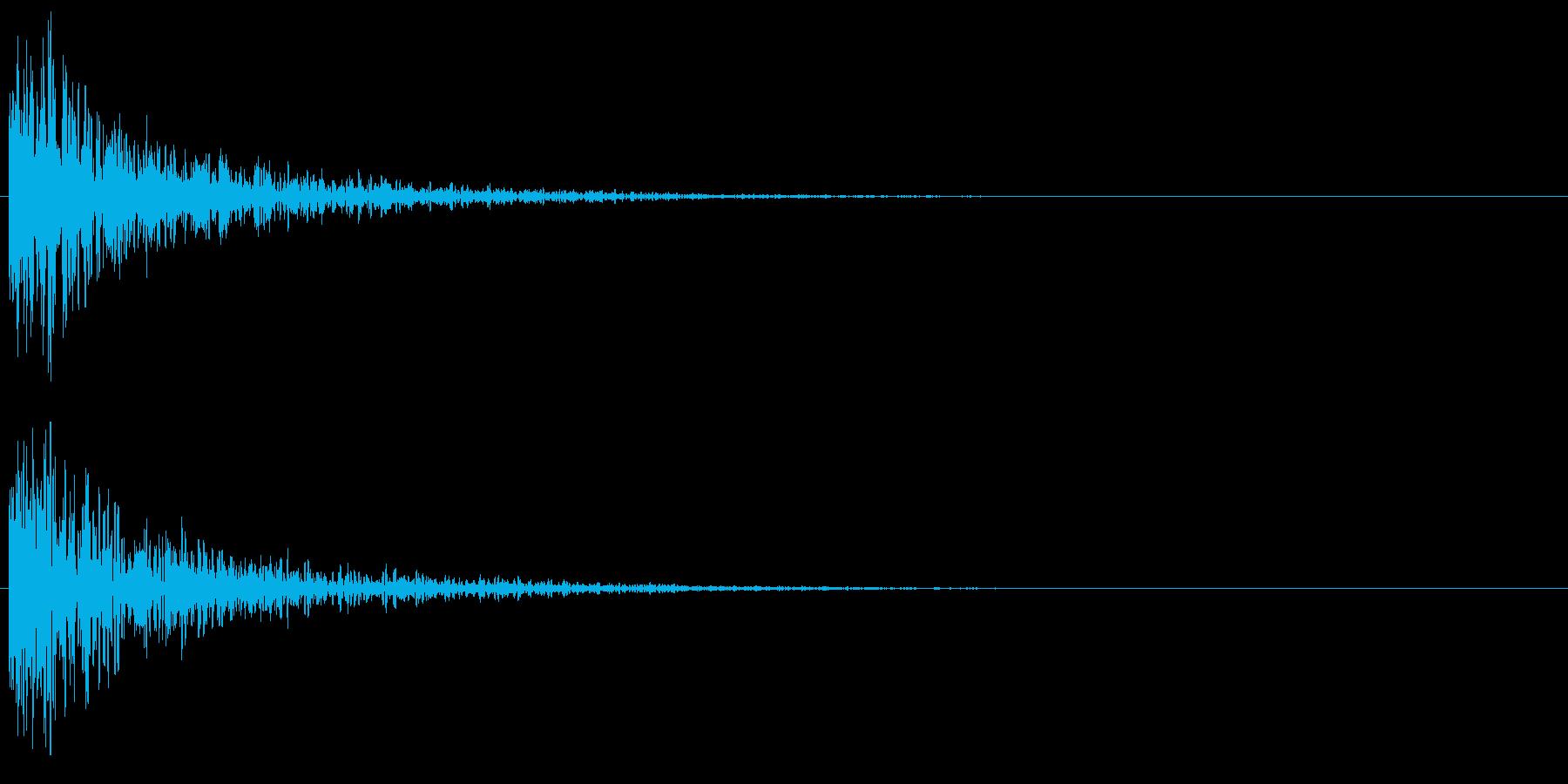 インパクト音 (ドーン)_002の再生済みの波形
