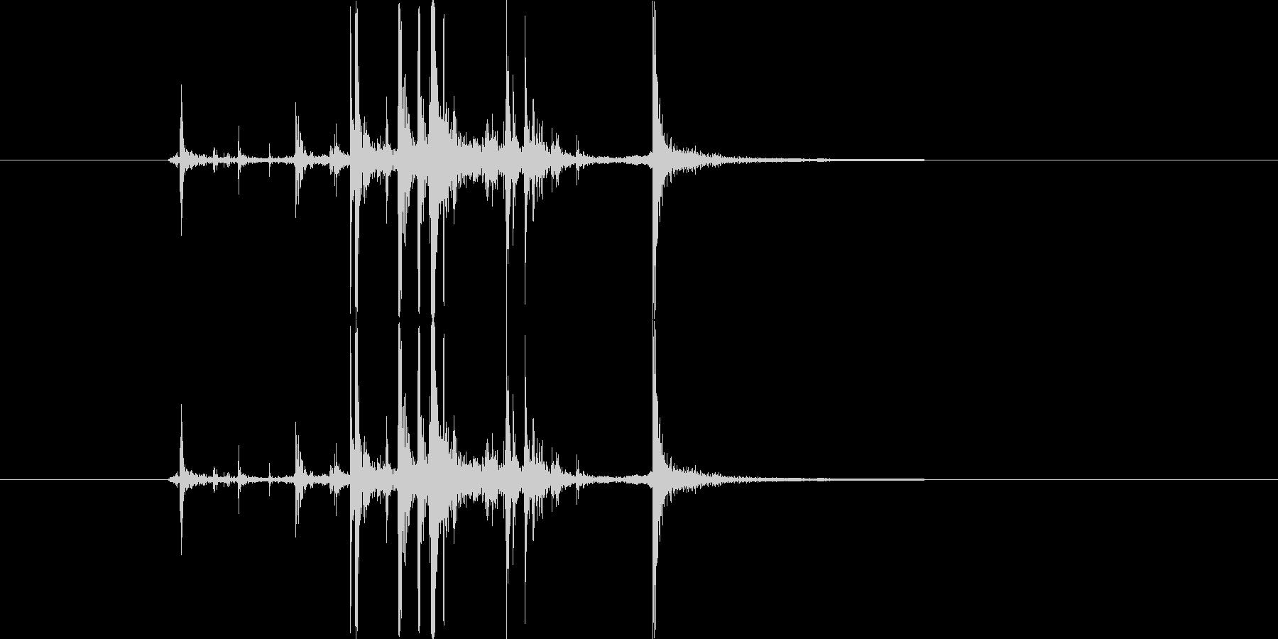 グキの未再生の波形
