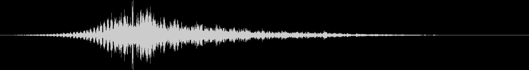 インパクト音の未再生の波形