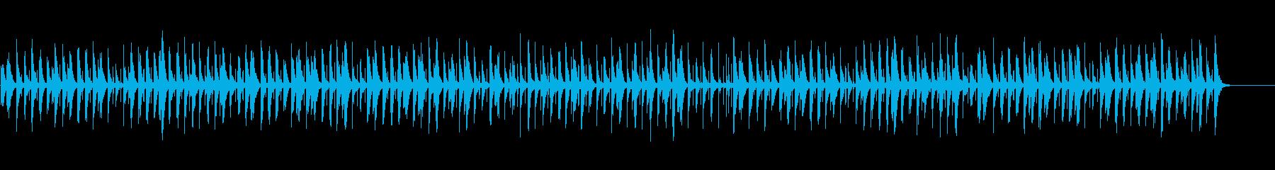 平和でほのぼのとした日常用BGMの再生済みの波形