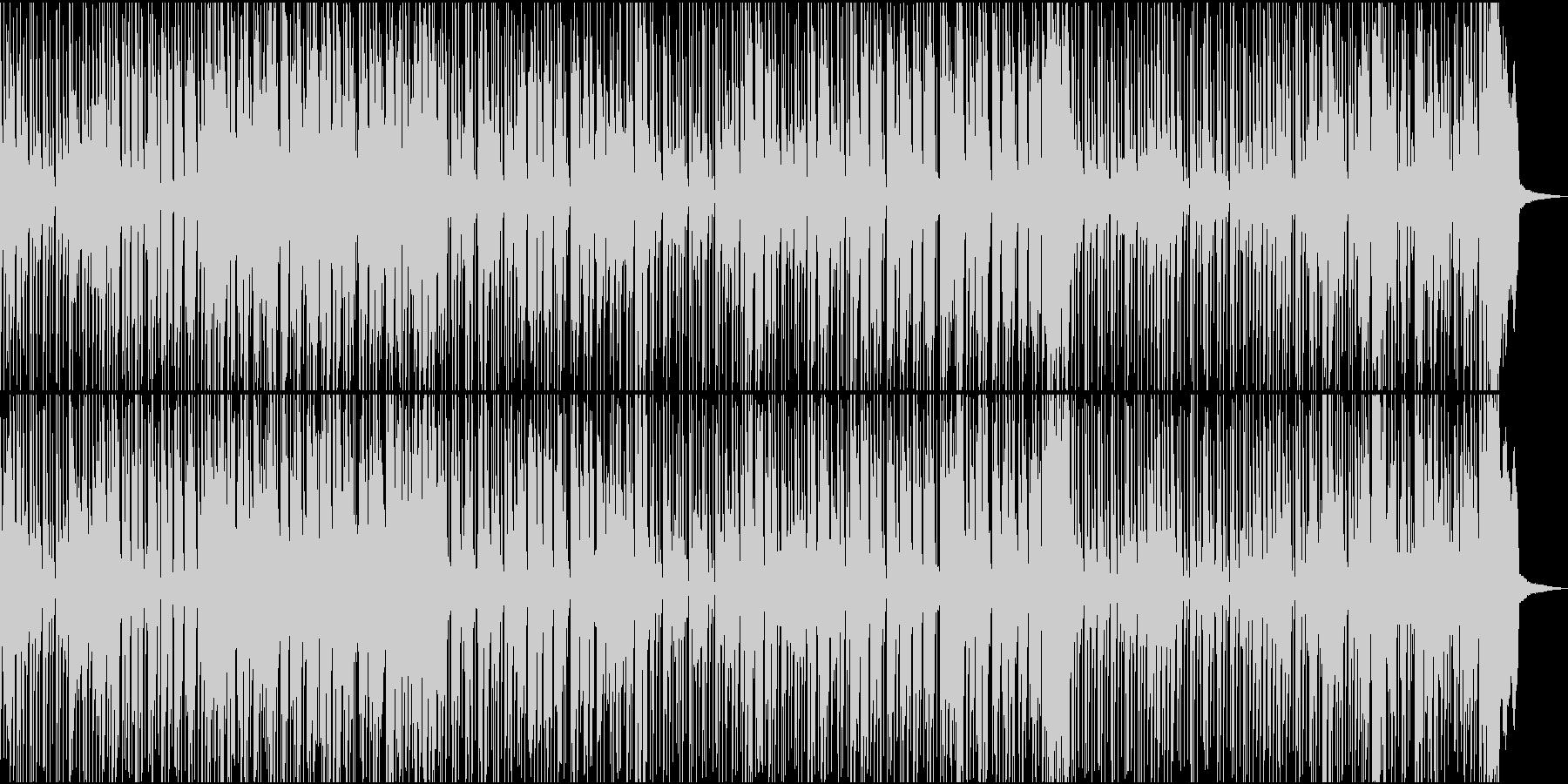 スローからミディアムテンポのレゲエ音楽の未再生の波形