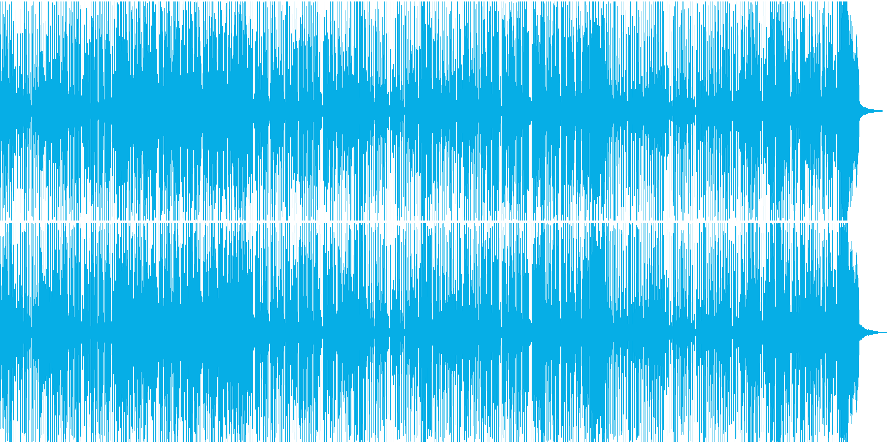 スローからミディアムテンポのレゲエ音楽の再生済みの波形
