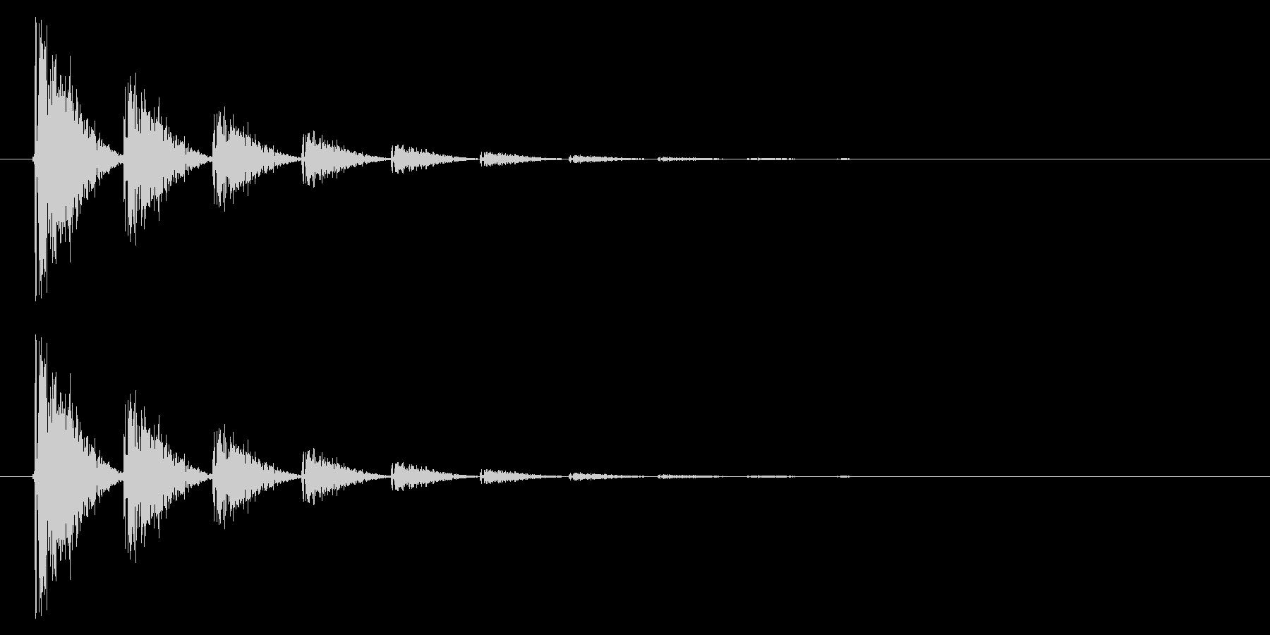 打撃08-6の未再生の波形