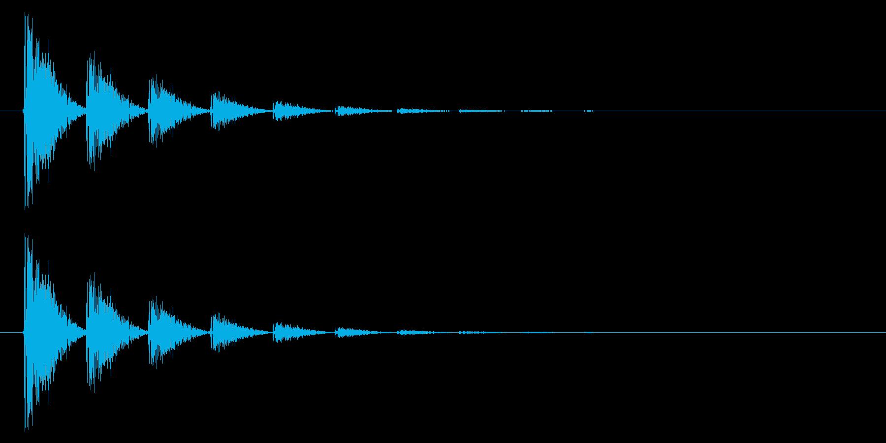 打撃08-6の再生済みの波形