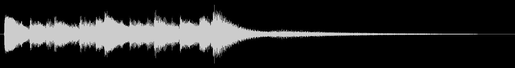 自然な雰囲気のピアノジングルの未再生の波形