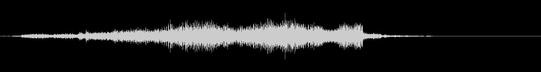 【ジングル】上昇するシンセサウンドの未再生の波形