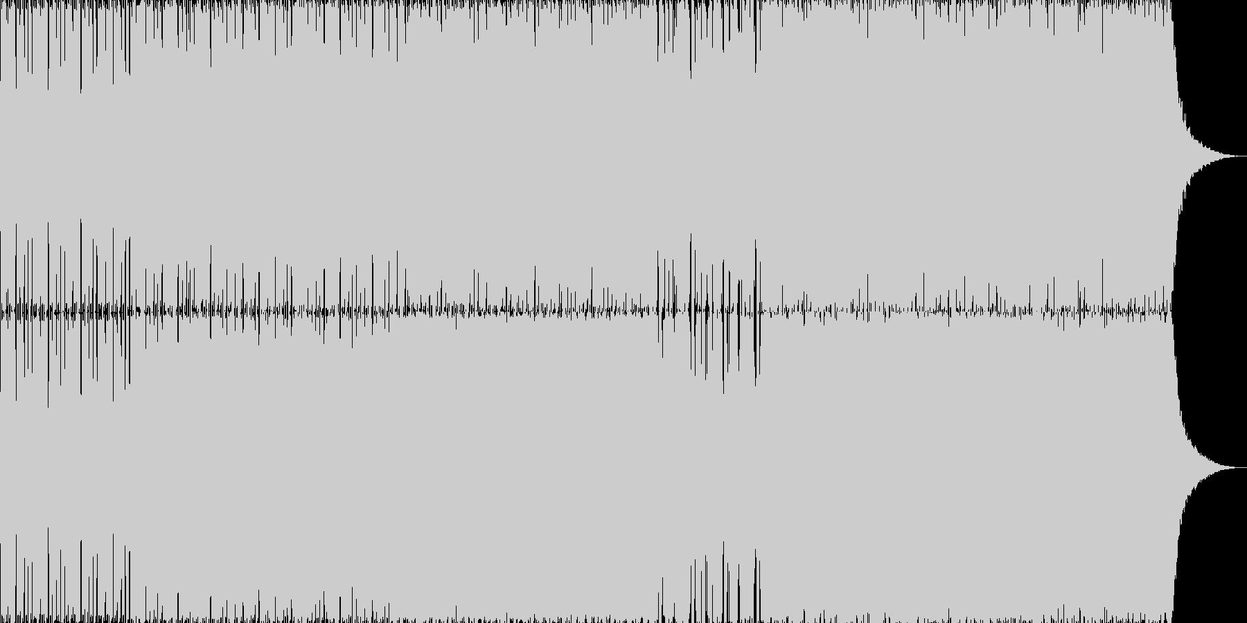 キャッチーでさわやかなエレクトロサウンドの未再生の波形