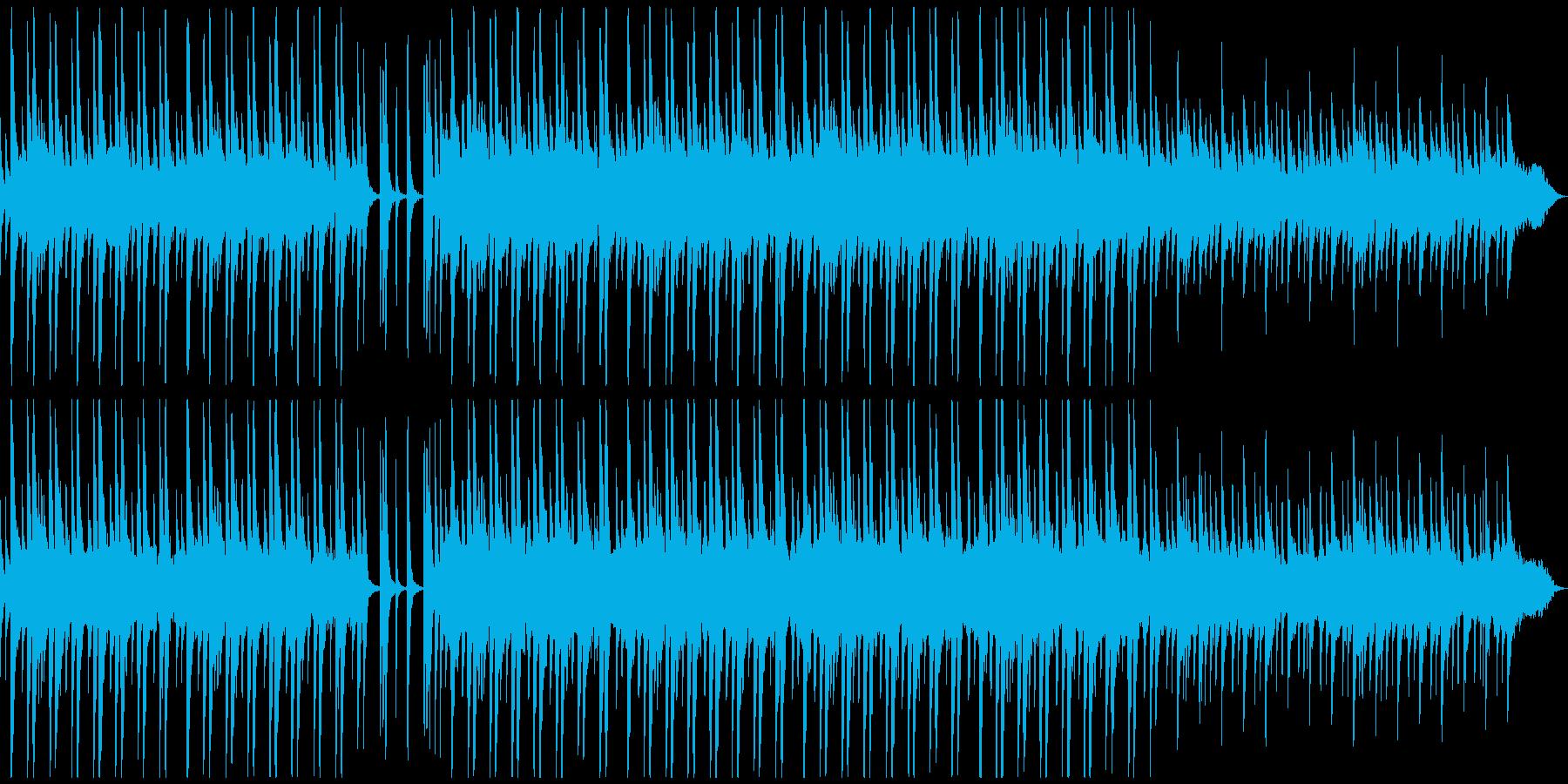 和風で琴の穏やかで風情や萌動を感じる曲の再生済みの波形