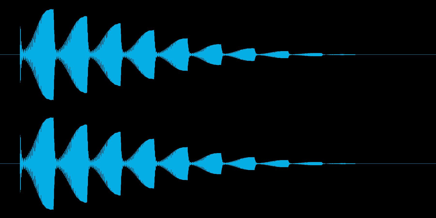 水の中から浮かび上がる泡っぽい効果音で…の再生済みの波形