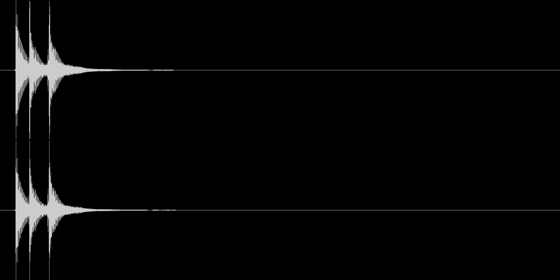 津軽三味線の生音三連打(hiA音)の未再生の波形