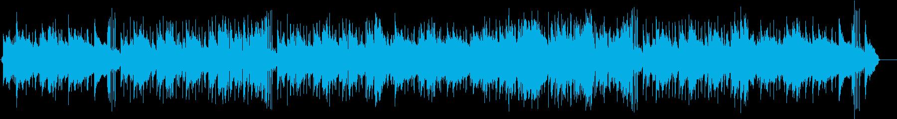 リゾートのウェディングパーティ風の入場曲の再生済みの波形