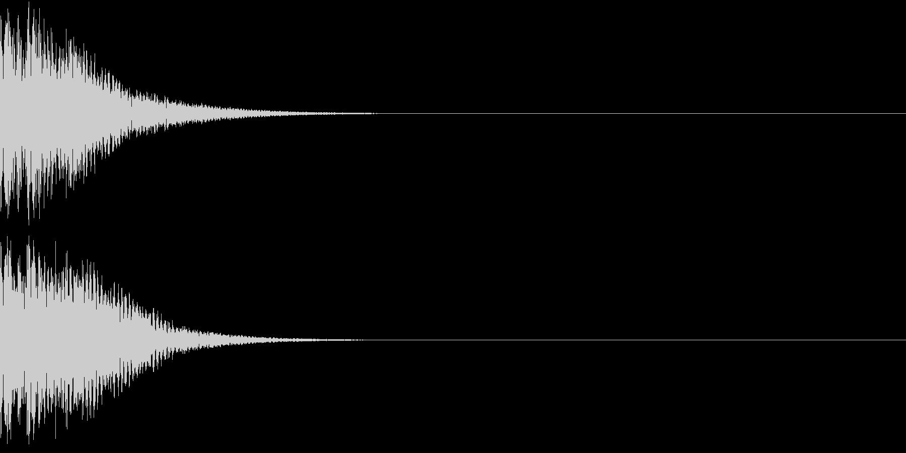 光る  輝く  キュピーン  キラーンBの未再生の波形