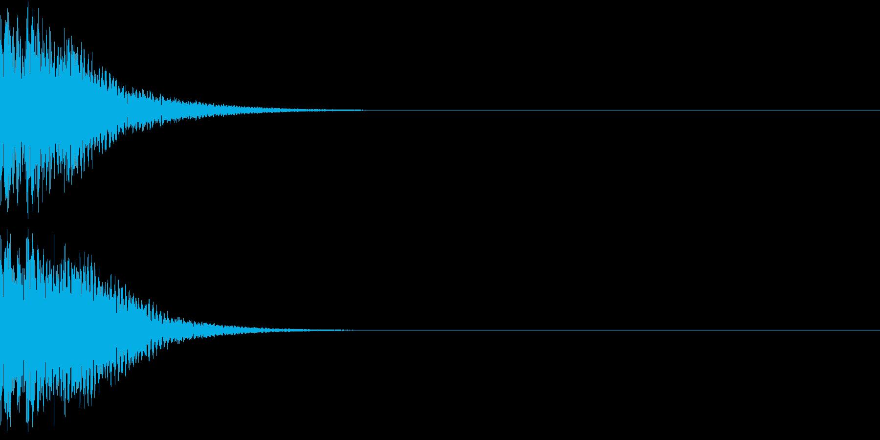 光る  輝く  キュピーン  キラーンBの再生済みの波形