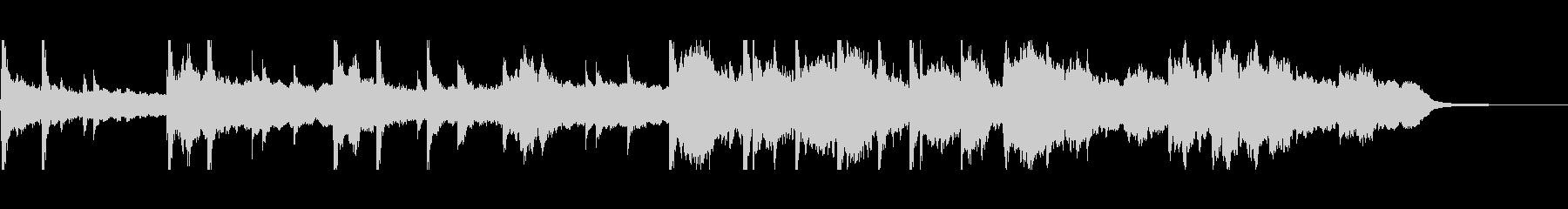 ゆったりした切ない雰囲気のBGMの未再生の波形