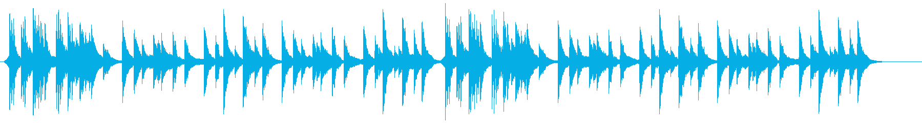 美しく深いピアノ曲の再生済みの波形