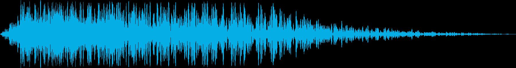 文字表示インパクト(ブオンッ!)の再生済みの波形