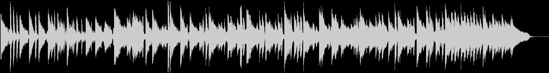 ピアノとオルガンのほっこりブルースの未再生の波形