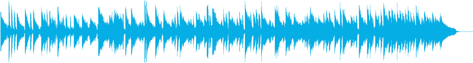 ピアノとオルガンのほっこりブルースの再生済みの波形