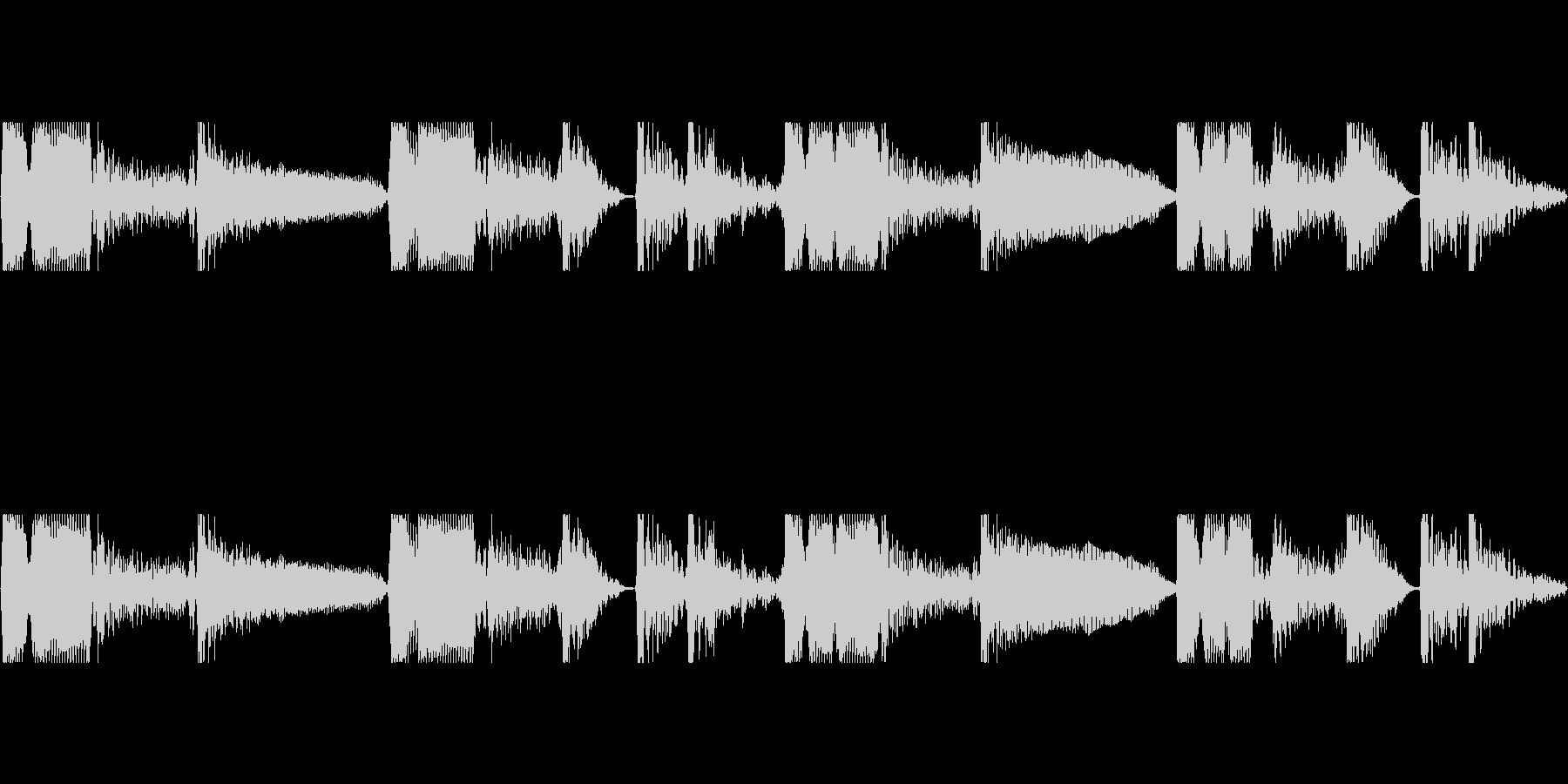 ダブルベース ループDmの未再生の波形